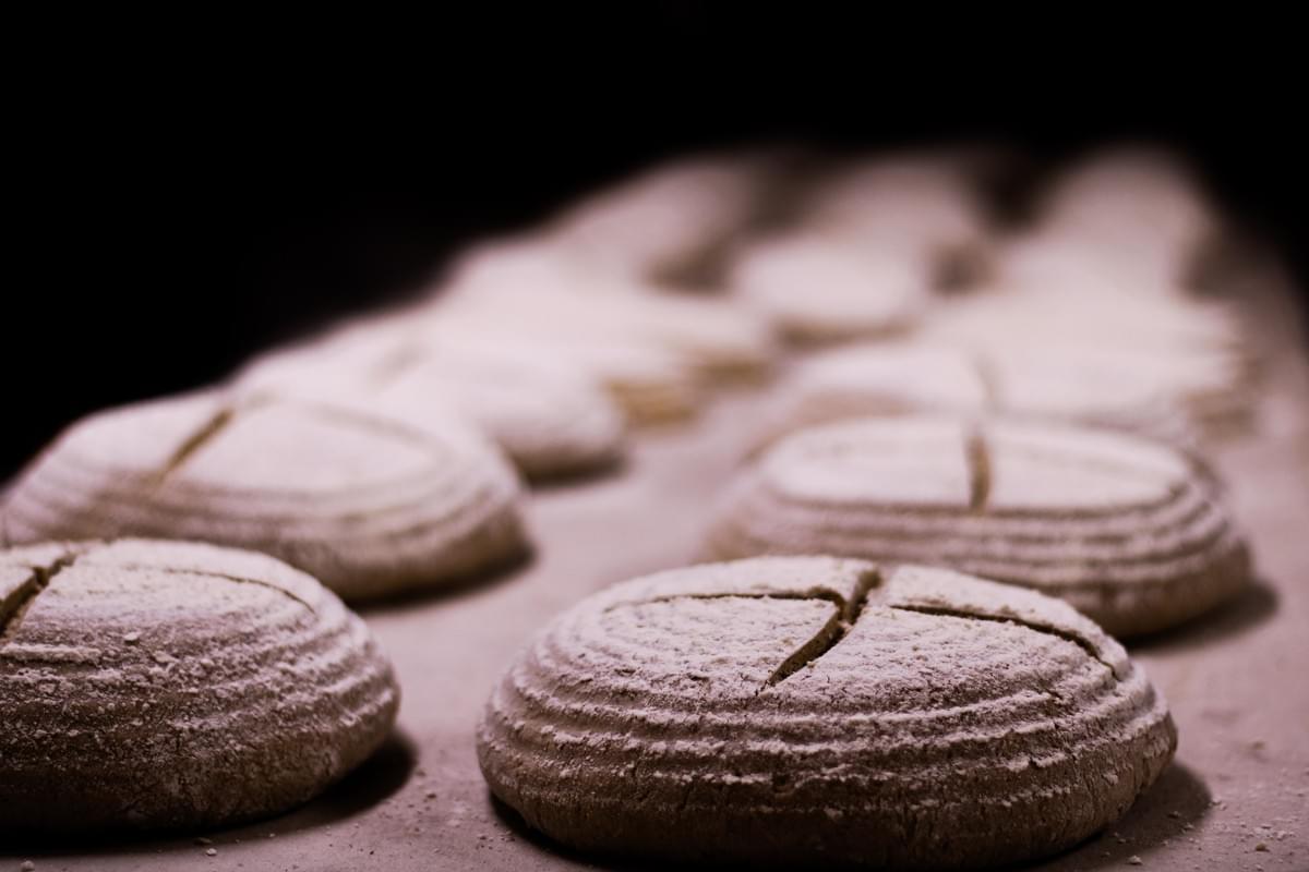 Sourdough bread - wild fermentation example