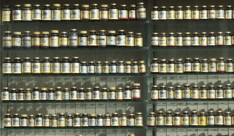 Supplements shelf.