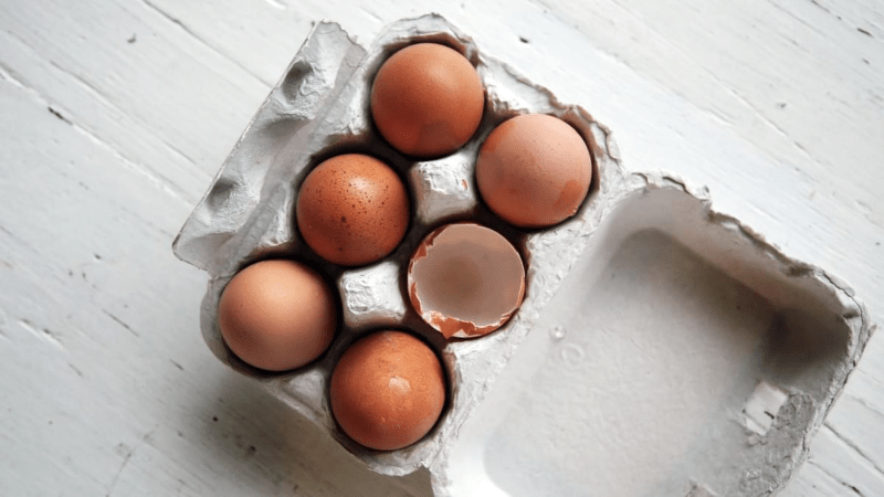 Animal foods like eggs contain Vitamin B12.