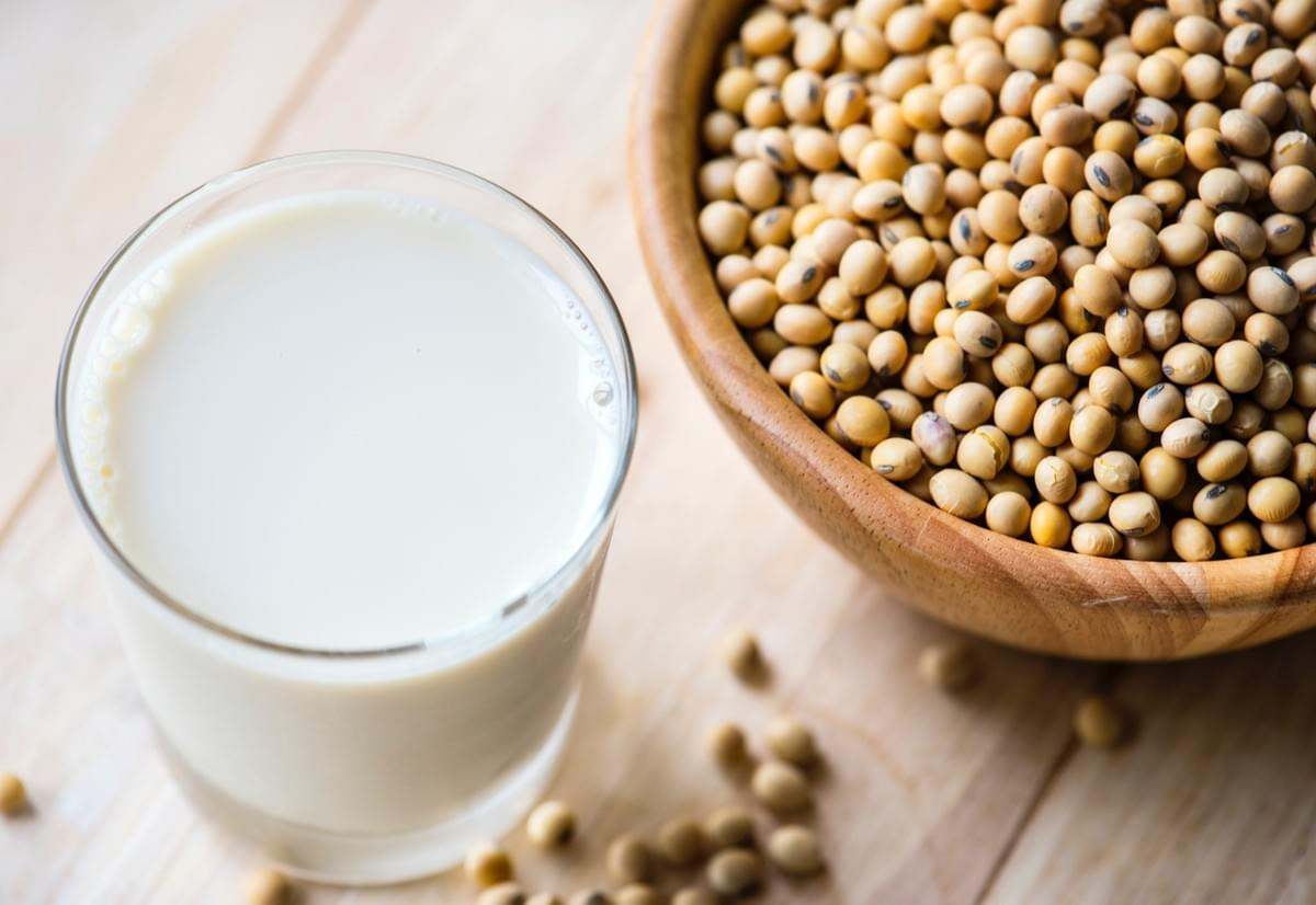 Soy beans are very high in protein. Soy products such as tofu, tempeh and soya milk are a good addition to a plant based diet.