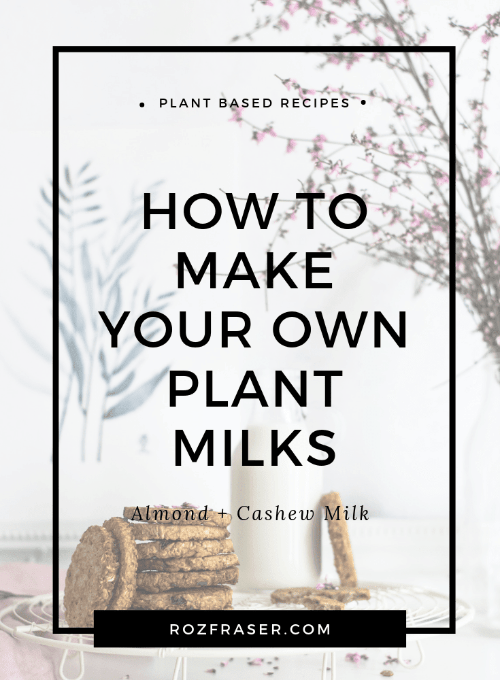 How to Make Plant Milks - Almond Milk and Cashew Milk