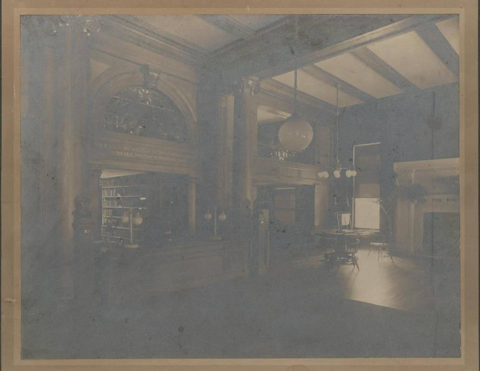 The Original Carnegie Room of Nyack Library, circ. 1904