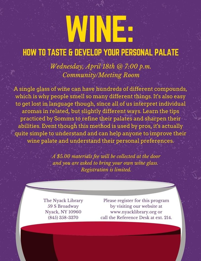 Wine: How to Taste & Develop Your Personal Palate