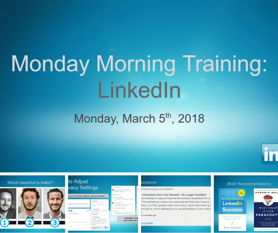 Monday Morning Training: LinkedIn