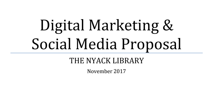 Digital Marketing & Social Media Proposal, November 2017