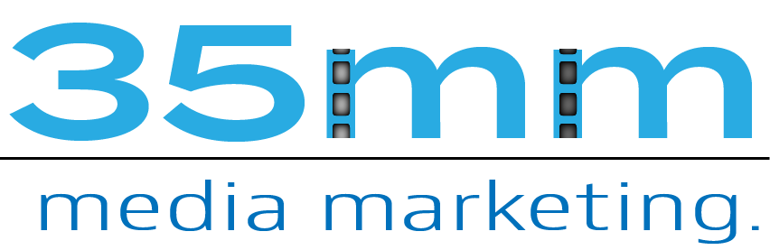 35 media marketing. logo