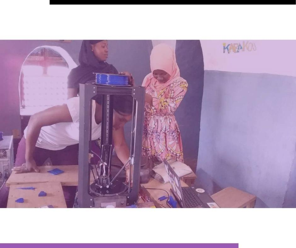 Girls women at 3D-printing - Kabakoo - Bamako - Mali