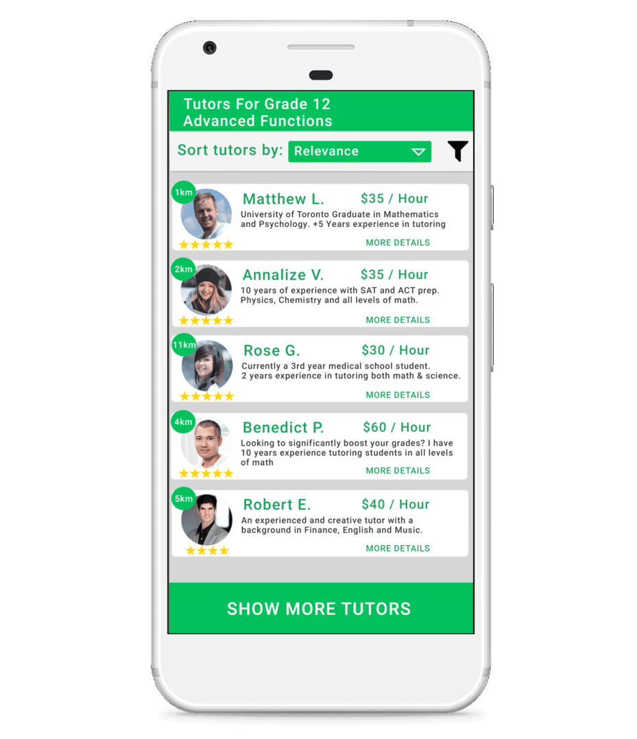 Tutorneer can find and compare on-demand tutors in Toronto and the GTA