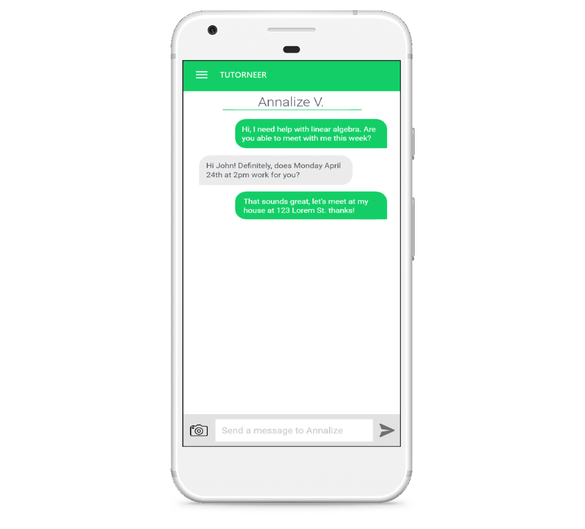 Send a message to on-demand tutors in Toronto with the Tutorneer app