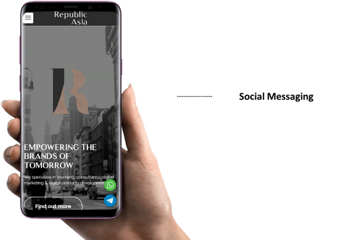 Integration of social messaging to brand touchpoints - Republic Asia