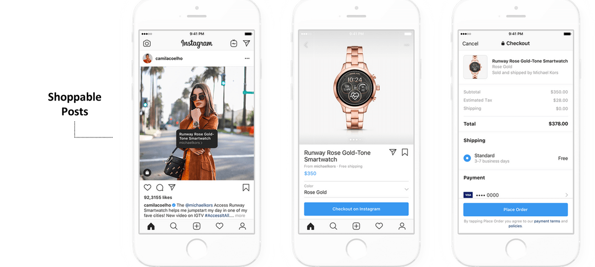 Shoppable contents - Instagram Shopping