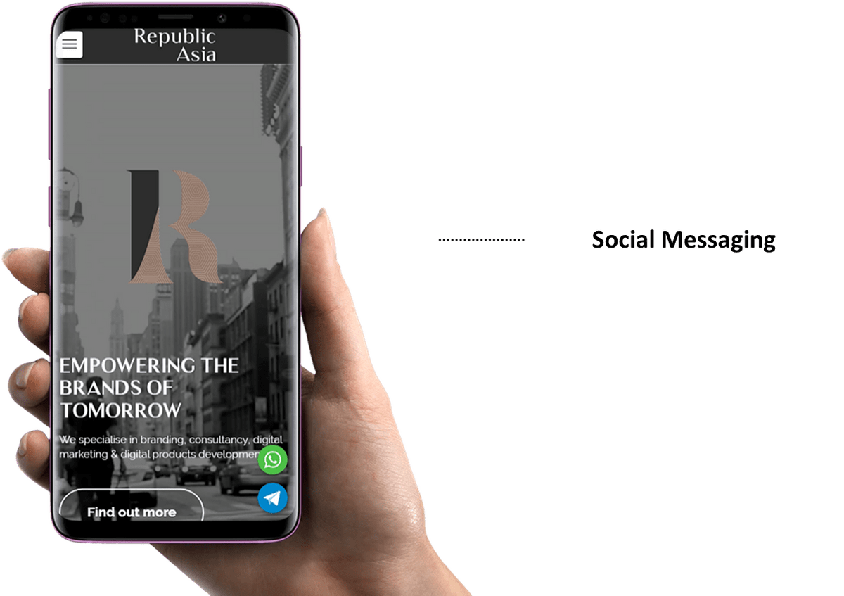 Republic Asia - Social messaging