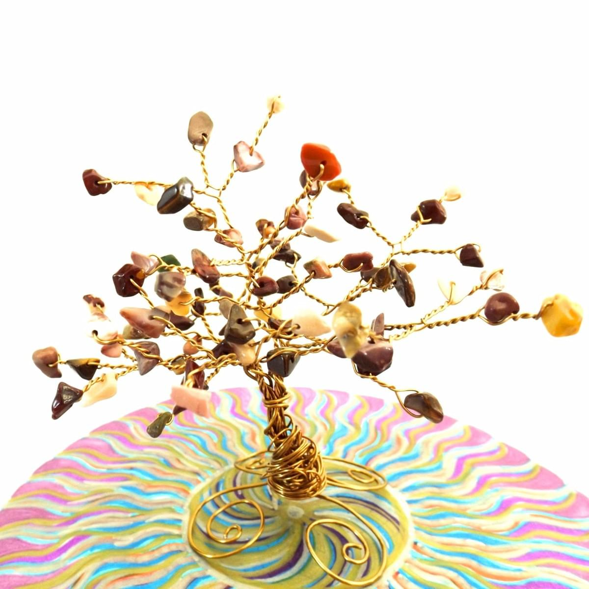 Tree of Life with healing crystals