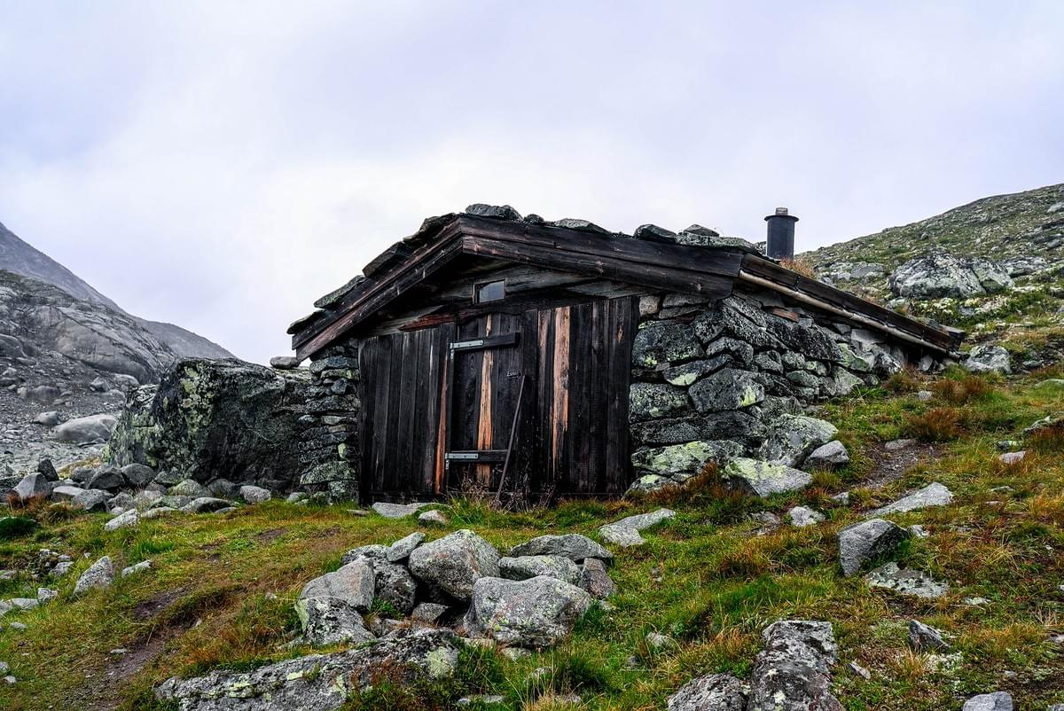 Image showing a shelter hut in Jotunheimen National Park, Norway.