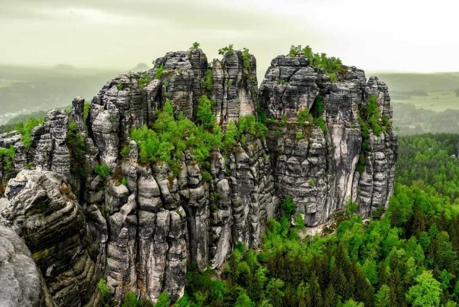 Image showing the view from the hike to the Schrammsteine in the Saxon Switzerland.