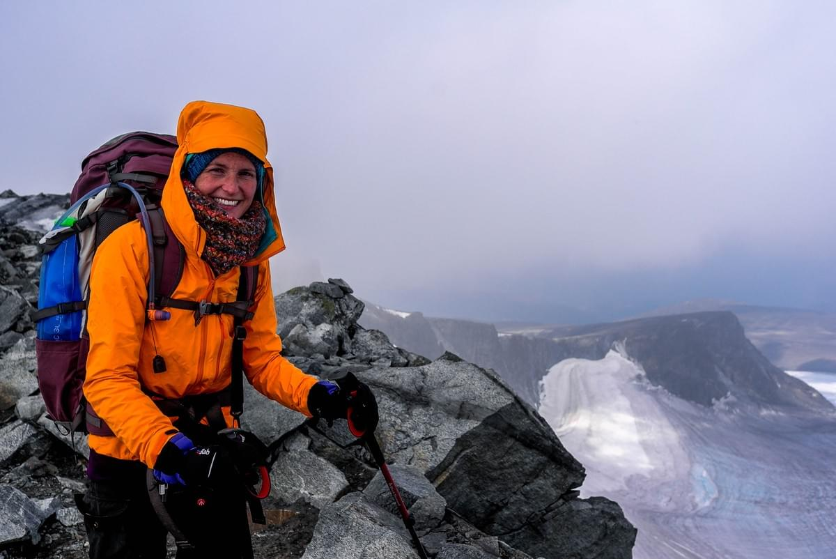 Image showing Nicole at the summit of Glittertind, Jotunheimen National Park, Norway.