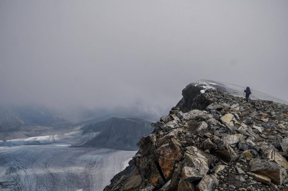 Image showing Kevin at the summit of Glittertind, Jotunheimen National Park, Norway.
