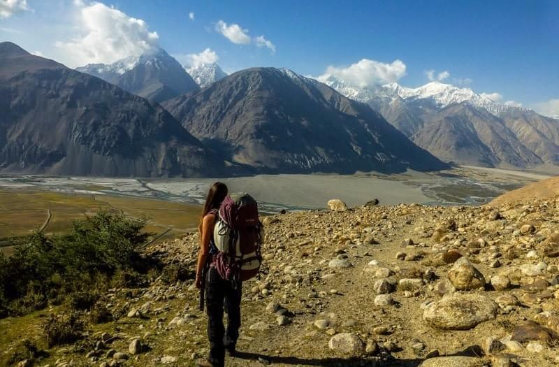 Image showing the first part of the trail towards Engels Peak overlooking the Wakhan Valley.