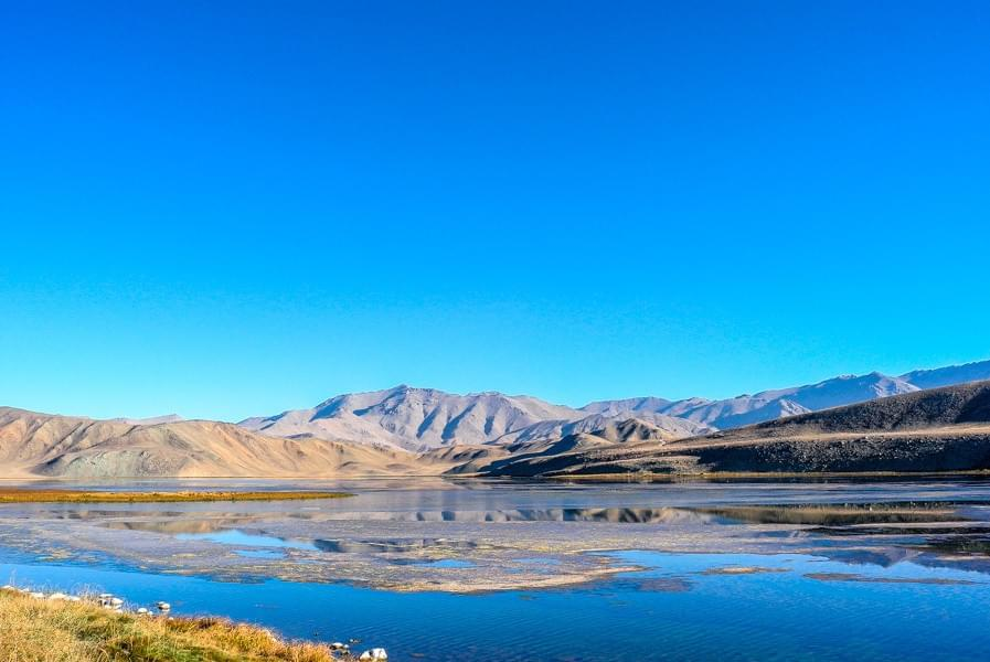Image showing lake Bulunkul at sunrise during the Pamir Highway Roadtrip.