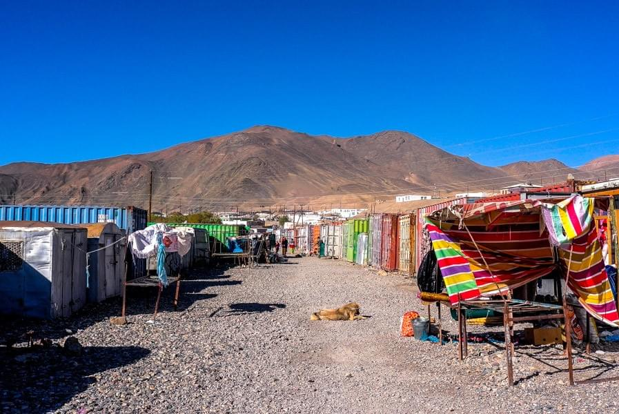 Image showing the colorful bazaar in Murgab on the Pamir Highway.