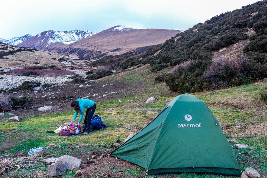 Image showing first camp along the Keskenkija loop.