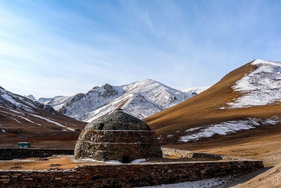 Image showing old caravanserai in Kyrgyzstan along the Silk Road near the Torugart Pass in Tashrabat.