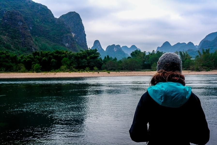 Image showing the 20 Yuan Bill view near Yangshuo, along the Li River, China.