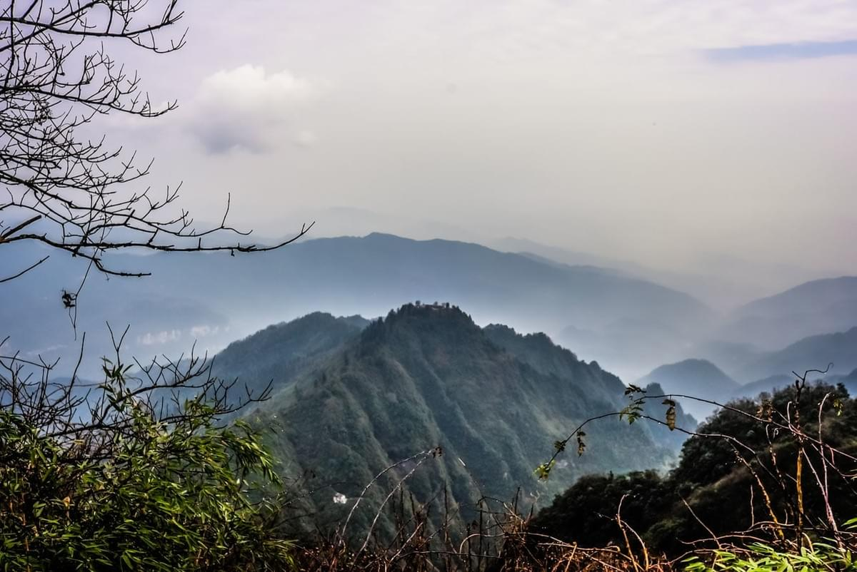 Image showing amazing view from Mount Emei near Chengdu in Sichuan Province, China.