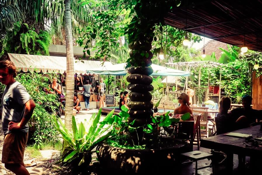 Image showing Samadi café and yoga school in Canggu on Bali, Indonesia.