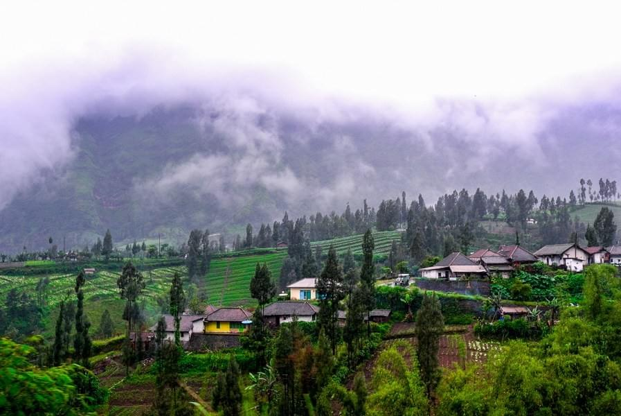 Image showing the small mountain village Cemoro Lawang near Bromo in East Java, Indonesia.