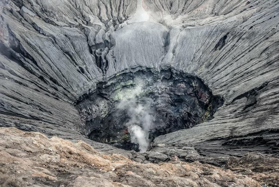 Image showing the crater of the active Mount Bromo volcano in the Bromo Tengger Semeru National Park in East Java, Indonesia.
