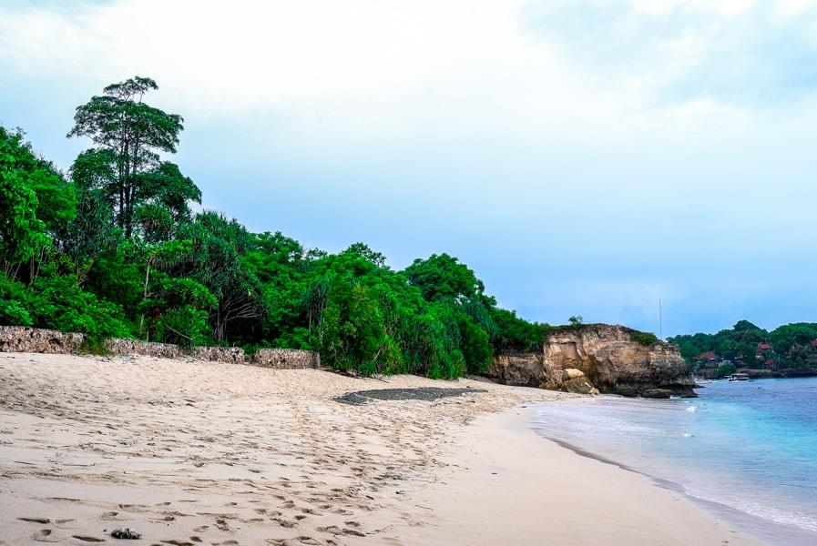 Image showing Mushroom Beach on Nusa Lembongan near Bali, Indonesia.