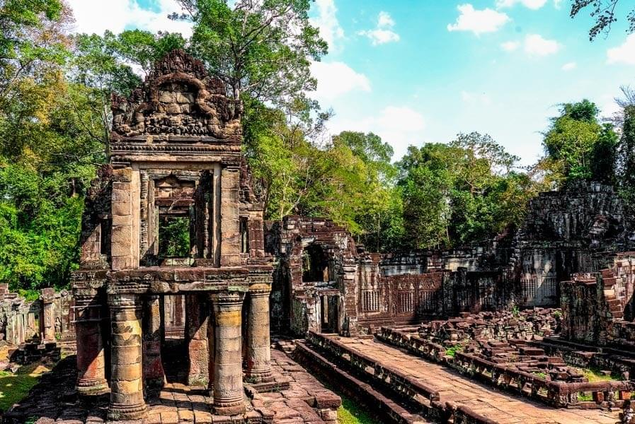 Image showing Prea Khan temple at Angkor Wat, Siem Reap, Cambodia