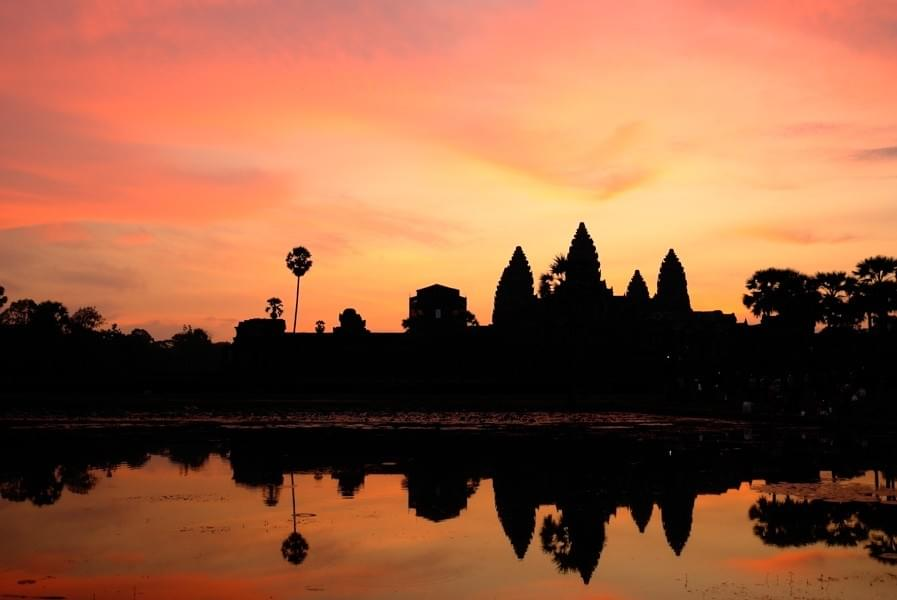 Image showing Angkor at Sunrise, Siem Reap Cambodia