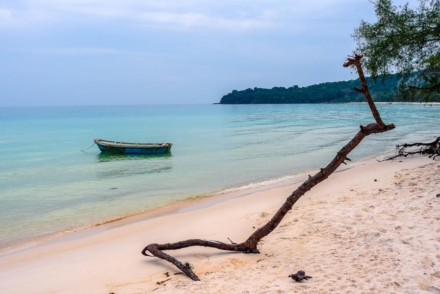Image showing the beach at Clearwater Bay on Koh Rong Samloem in Cambodia