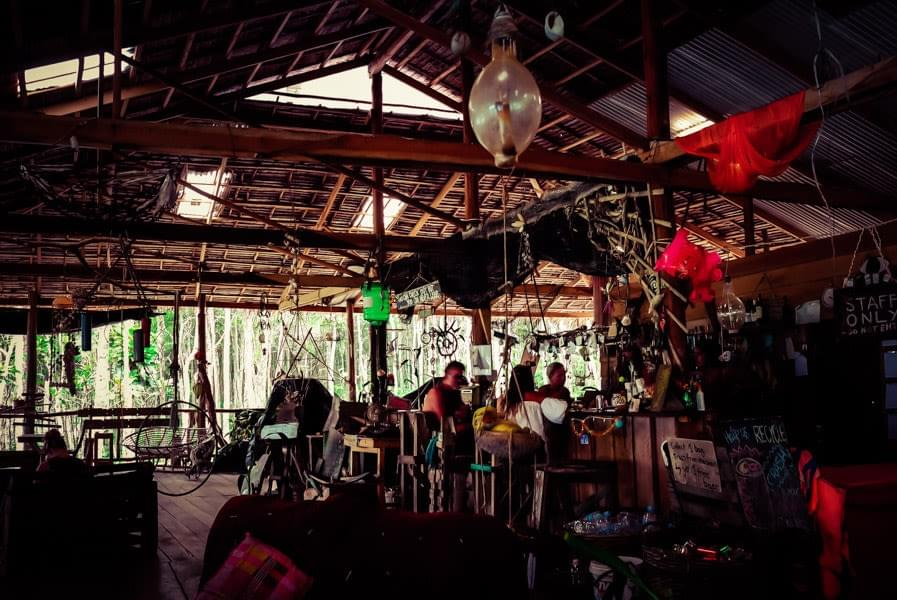 Image showing the Driftwood hostel at Clearwater Bay on Koh Rong Samloem in Cambodia