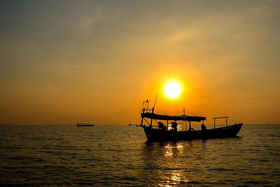 Image showing sunset on Koh Rong Samloem in Cambodia