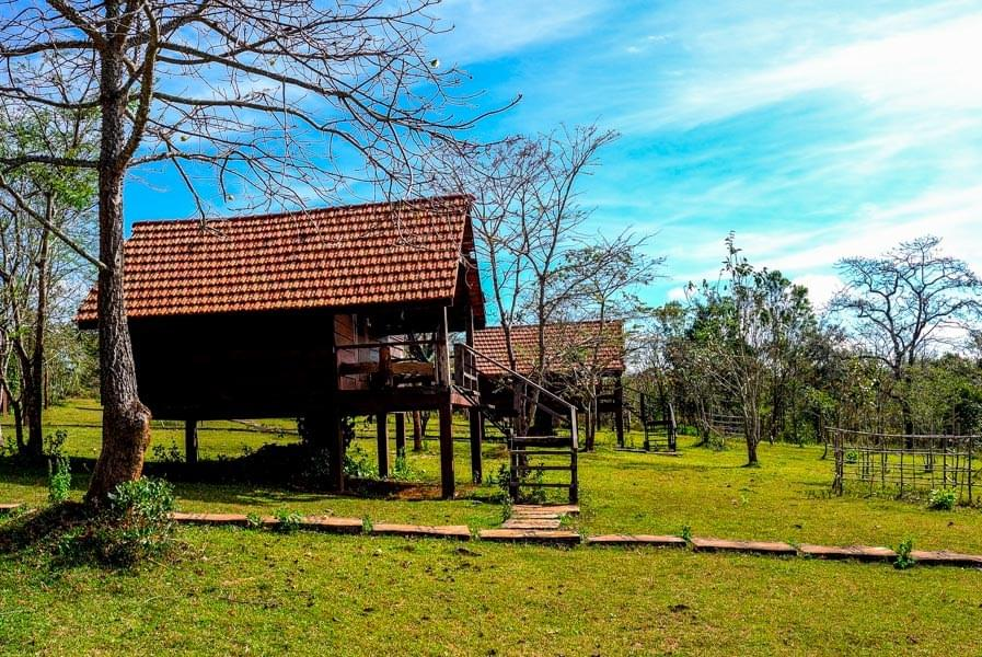 Image showing the Nature Lodge in Sen Monorom in East Cambodia.