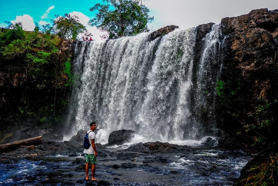 Image showing Kevin in front of the Bou Sra Waterfall near Sen Monorom in Cambodia.