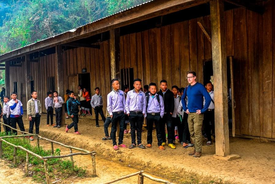 Image showing the school in Ban Long Ngath, during our hike near Luang Prabang