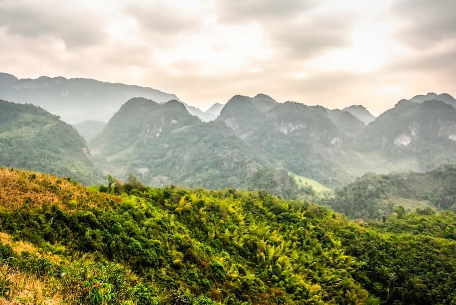 Image showing the mountains while hiking in Luang Prabang, Laos