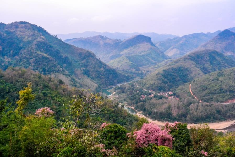 Image showing amazing view over mountains near Luang Prabang