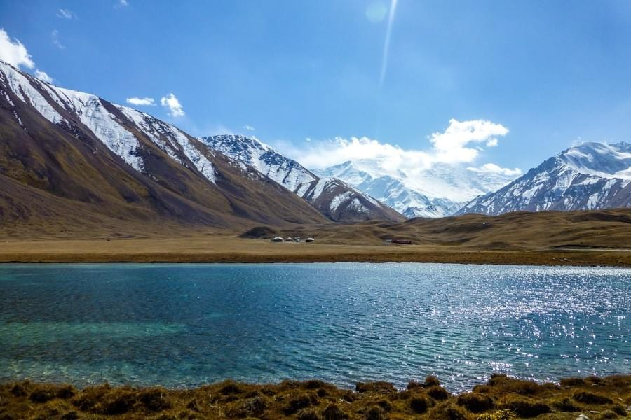Image showing the lake Turpa-Kul close to Lenin Peak Basecamp in Kyrgyzstan.