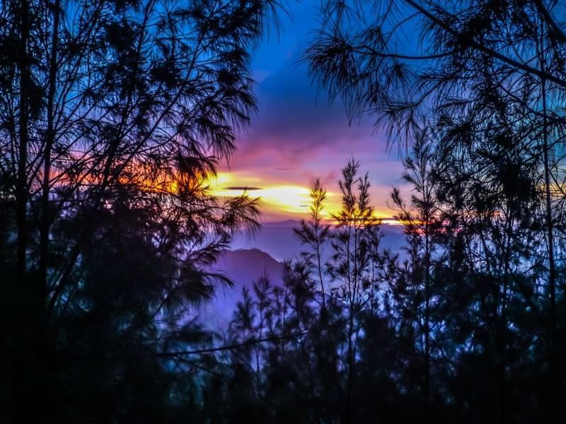 Image showing the sunrise from Mount Penejakan over the Bromo Tengger Semeru National Park in East Java, Indonesia.