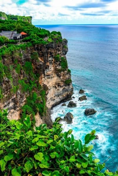 Image showing the Ulu-Watu temple and cliff, Bali, Indonesia.