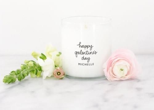 happy galentines day gift idea candle