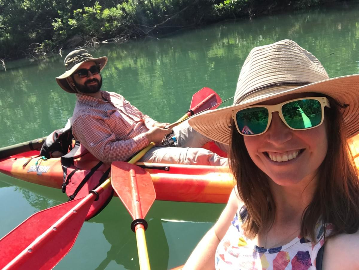 fishing, kayaking, and laughing our way down a 5 hour river float