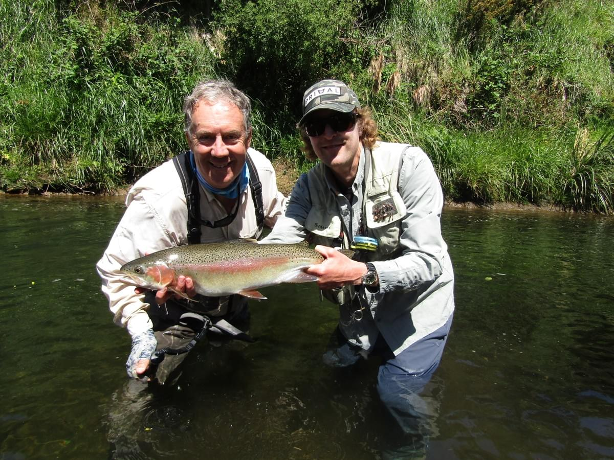 Stuart from Australia and a big small stream rainbow trout. November 2019. www.tntfishinguidenz.mystrikingly.com