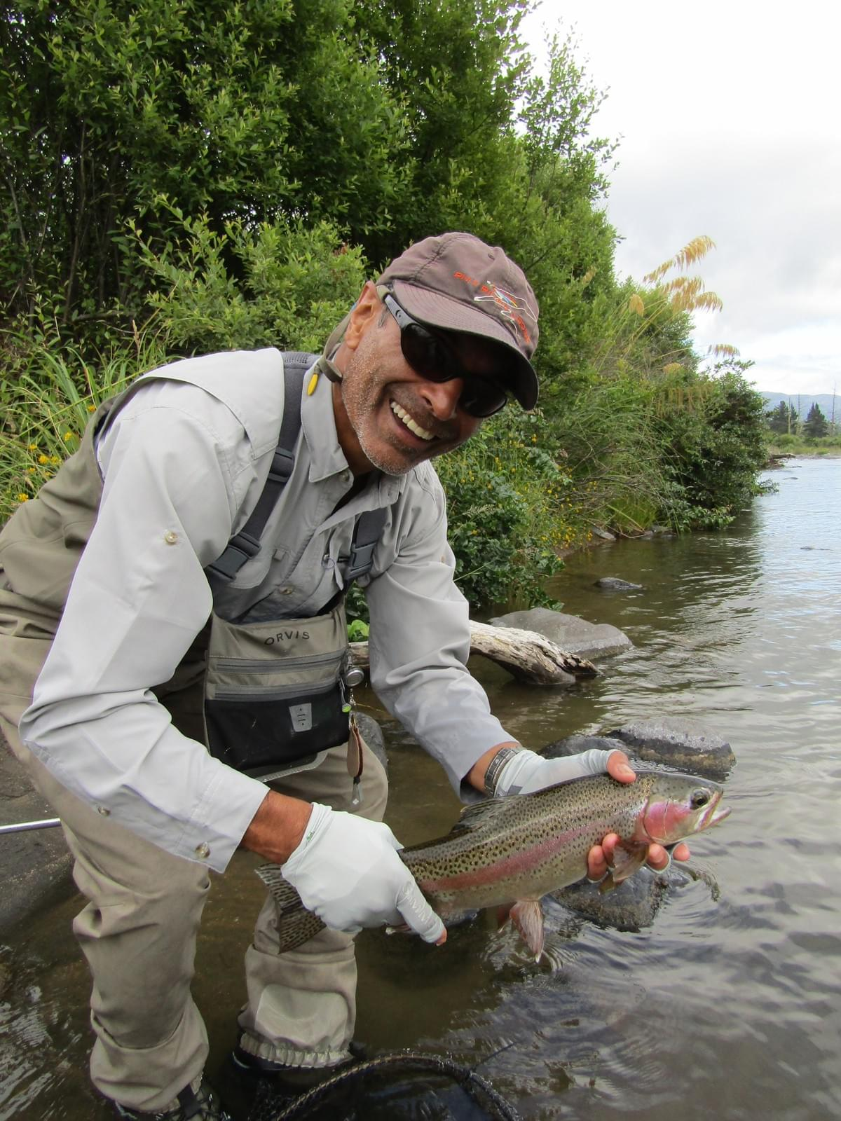Angler Kerry Suntura January 2019       Photo taken by Taupo fly fishing guide Adam Priest