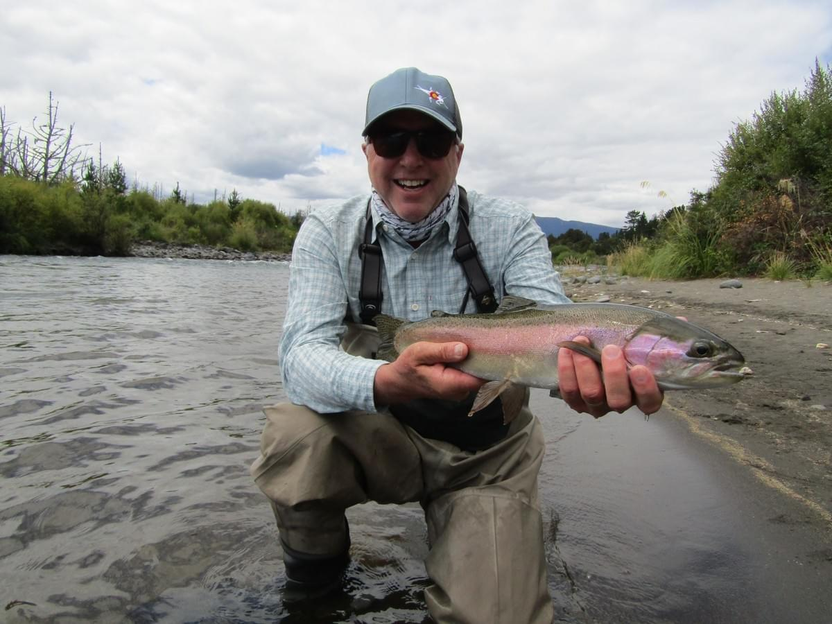 Angler Mark Nordstrom February 2019       Photo taken by Taupo fly fishing guide Adam Priest